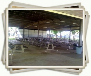 Picnic Rental Pavilion tables at Manzanita Place